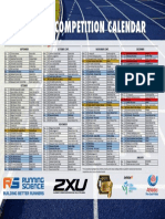 Summer Series Competition Calendar