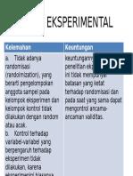 Keuntungan kuasi experimen