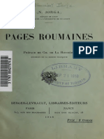 N. Jorga - Pages Roumaines