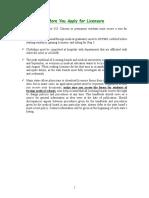 Licensing Handbook