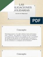 Las Obligaciones Solidarias