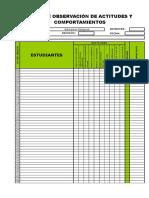 Ficha de Observación - Actitudes y Comportamientos