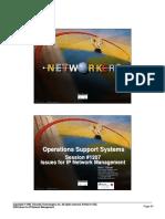 OSS Addressing OSS Issues for IP Network Management