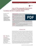 Diagnostic Significance of Ultrasonographic Measurements