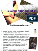 Biblical Foundation Marriage