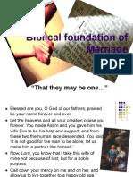 Biblical Foundation Marriage