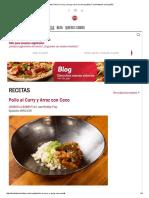 Receta_ Pollo Al Curry y Arroz Con Coco en Español _ Food Network en Español
