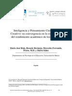 Ruiz Et Al 2014 Inteligencia y Pensamiento Científico-creativo