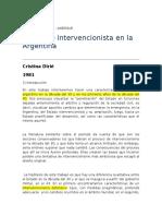 El Estado Intervencionista en La Argentina-Dirie