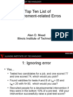 Measurement Errors. Top10