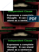 Independent Clauses-Dependent Clauses