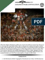 Adeptus Mechanicus War Convocation