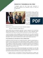 Etica Periodistica y Desarrollo Del Perú