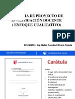 Esquema de Proyectos de Investigación docente Cualitativa ucv