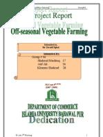 Off Seasonal Vegetable Farming