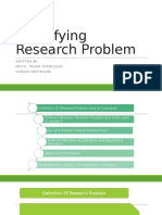 Idenifying Research Problem