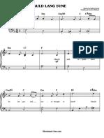 Auld Lang Syne Sheet Music Christmas Sheet Music (SheetMusic Free.com)