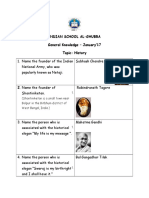 History Quiz Jan 2k17