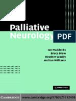 Palliative Neurology - I. Maddocks, et. al., (Cambridge, 2005) WW.pdf