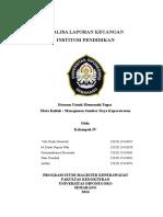 Analisis Laporan Keuangan Institusi Pendidikan