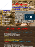 Exposé Sur Le Patrimoine Architectural Et Urbain