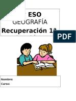 Actividades de Recuperacion 1ª Evaluacion 3º Eso