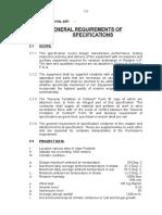 Gen.req. of Specifications