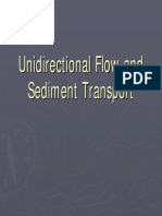 Unidirectional Flow and Sediment Transport