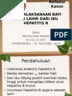 Penatalaksanaan Bayi Baru Lahir Dari Ibu Hepatitis b