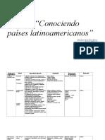 Conociendo Paises Latinoamericano