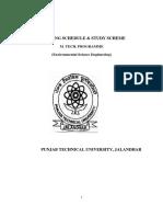 PTU M.Tech Environment Syllabus