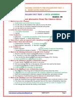 PG TRB-EnGLISH UNIT-TEST-1 by Kaviya Coaching Centre