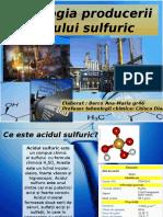 Tehnologia producerii acidului sulfuric