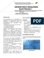 informe maquinas de corriente de continua