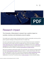Research Impact at the University of Manchester