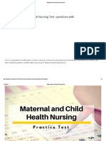 Maternal and Child Health Nursing Test