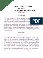 The 1987 Philippine Constitution (codal)