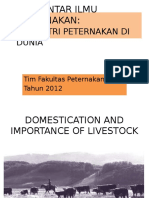 PB-1, Sejarah & Antropologi Peternakan