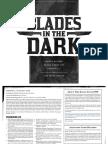 Blades in the Dark - Quickstart v7.1