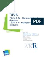 DIVA Livrables Tâche 3a Caractérisation Physico Chimique Des Digestats Bruts Solides Et Liquides Et Stabilité Biologique Résiduelle