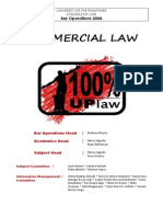 UP Commercial Law Reviewer 2008