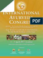 International Ayurveda Congress London 1-2 April 2017