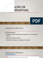 5. Analisis de Alternativas