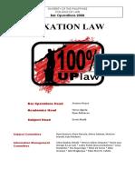 UP Taxation Reviewer 2008