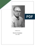David Freedman Memorial
