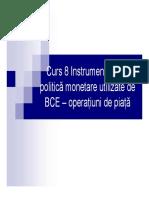Instrumentele de Politica Monetara Ale BCE - Operatiuni de Piata
