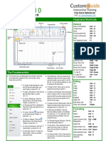 Excel 2010 Quick Reference