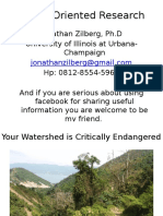 Your Watershed is Critically Endangered