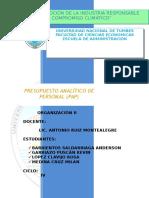 Presupuesto Analitico de Personal - PAP