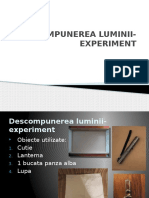 Descompunerea Luminii Cl. a VI-A